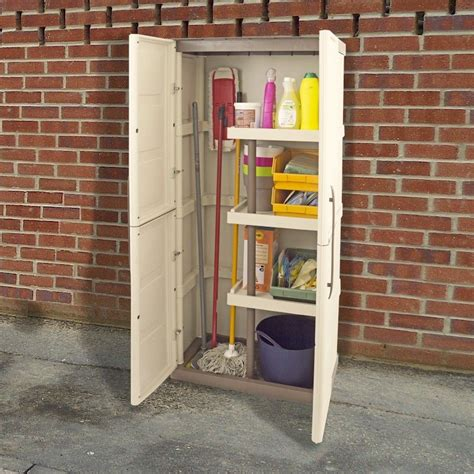 Large Cupboard With Shelves by Shire Large Plastic Store With Shelves And Broom Storage