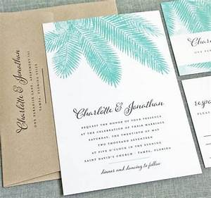 new charlotte teal palm tree wedding invitation sample With examples of destination wedding invitations