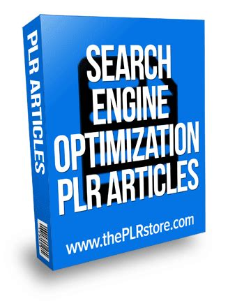 search engine optimization articles search engine optimization plr articles label rights