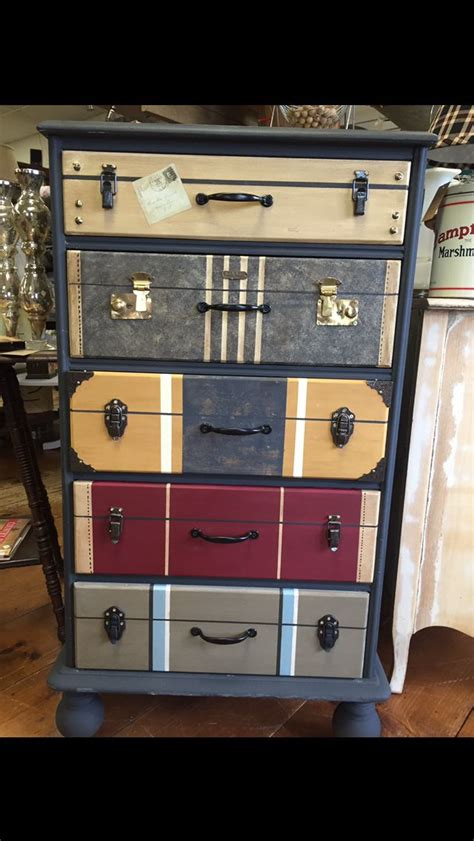 drawers painted    suitcases    graphite