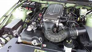 2005 Green Ford Mustang GT Engine - YouTube