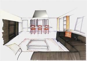 salon dessin perspective urbantrottcom With dessin de maison en 3d 1 etudes graphiques avant projet architecture interieure