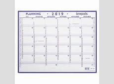 Brepols Maxi Planning kalender 2019 42 x 33 cm Brepols