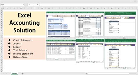 excel accounting  bookkeeping solution template