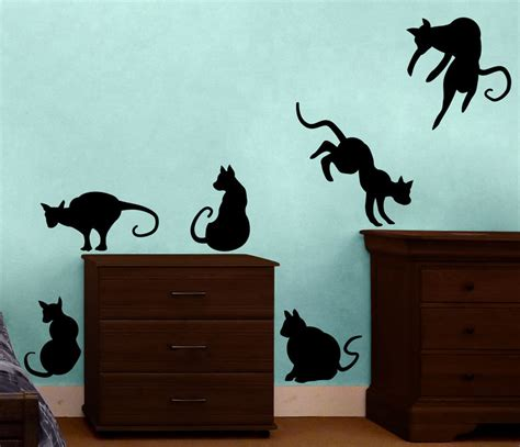 cats halloween themed vinyl stickers decal wall