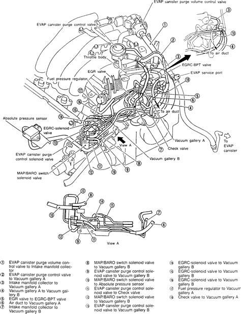 1999 nissan pathfinder engine diagram intake manifold