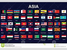 Flags Of Asia Royalty Free Stock Images Image 27668979