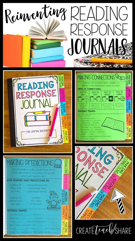 reading response journal cover 25 best ideas about reading response on
