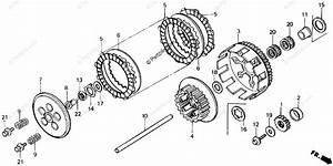 Honda Motorcycle 1986 Oem Parts Diagram For Clutch