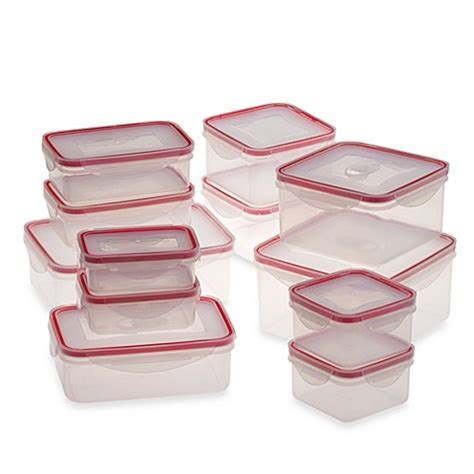 24 Piece Food Storage Container Set with Snap Lock? Lids