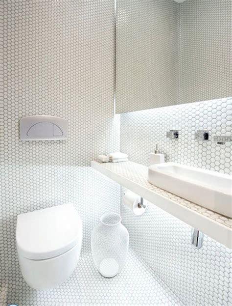 white mosaic bathroom floor tile ideas  pictures