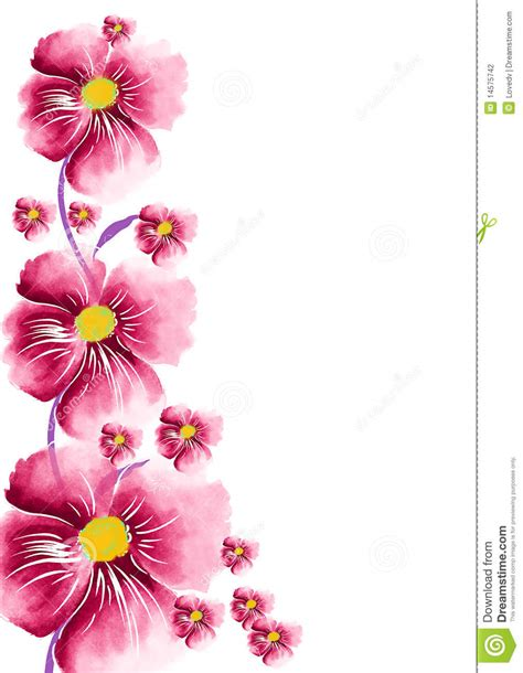 time card template word flower greeting stock photography image 14575742