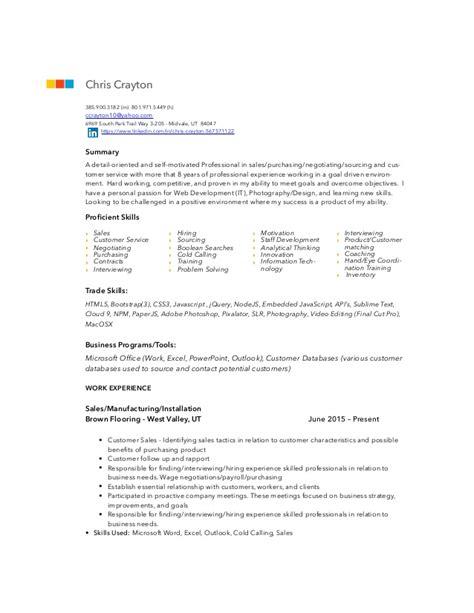 Detail Oriented Resume Statement by C Crayton Resume