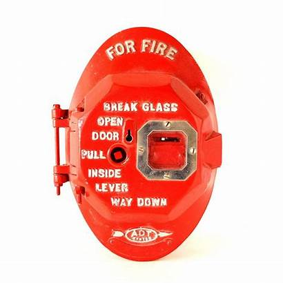 Fire Alarm 1960s Call Bright Iron Cast