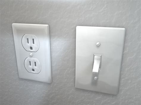 electrical outlet light switch 3d model