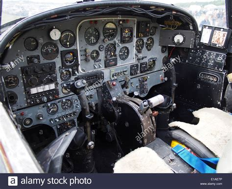 bac a shoing view of the interior of the cockpit of a bac jet provost showing stock photo 69686842 alamy