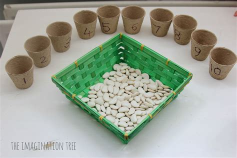 beans and flower pots counting activity the imagination tree 210 | Bean counting activity