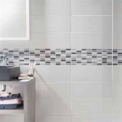 carrelage mural melotti blanc 20 x 50 cm castorama sdb bathroom designs