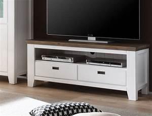 Hänge Tv Schrank : lowboard barnelund 140x55x45 akazie wei tv m bel tv ~ Michelbontemps.com Haus und Dekorationen