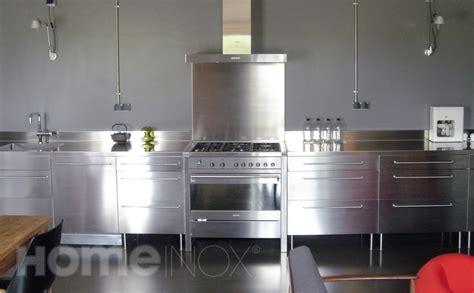 meuble cuisine en inox cuisine en inox ikea cuisine en image