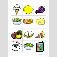 Food Bingo Worksheet  Free Esl Printable Worksheets Made By Teachers