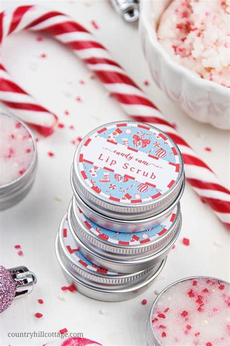 diy peppermint lip scrub recipe   printable labels