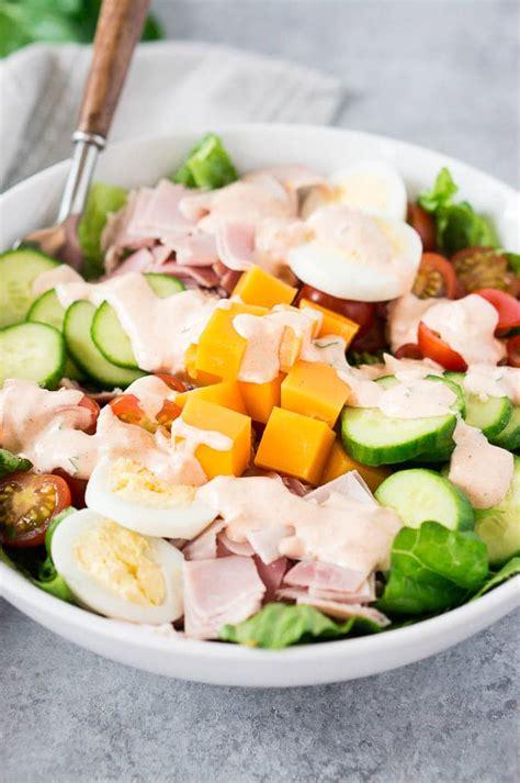 chef salad recipe healthy lunch delicious meets healthy