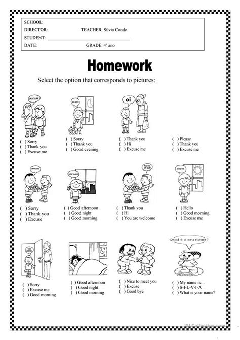 all worksheets 187 greetings and polite expressions