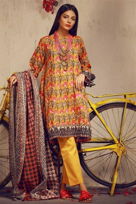 printed khaadi latest summer lawn dresses designs