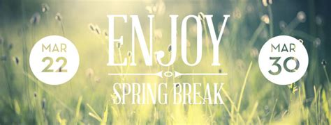 pcssd enjoy spring break