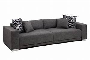 Sofa Xxl Günstig : b famous big sofa london xxl struktur grau 287x103 cm wohnlandschaft g nstig kaufen ~ Markanthonyermac.com Haus und Dekorationen