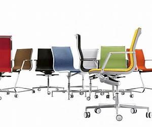 Chaise De Bureau : chaise de bureau xecutive en cuir pleine fleur nulite pied fixe ~ Teatrodelosmanantiales.com Idées de Décoration