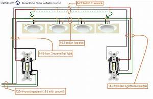 I Need A Diagram For Wiring Three Way Switches To Multiple Lights 4  Power Starting At The First