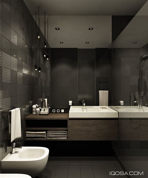 Design Bathrooms by Design A Chic Modern Space Around A Brick Accent Wall