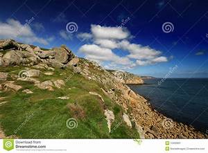 Cornish Cliff Path In The Summer Stock Image