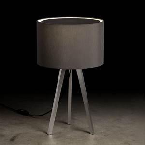 Tischleuchte Mit Schirm : holtk tter tischleuchte aluminium matt mit chintz schirm wohnlicht ~ Indierocktalk.com Haus und Dekorationen
