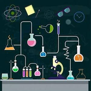 ديكور خلفية الكيمياء التجربة العملية أداة مختبر الايقونات