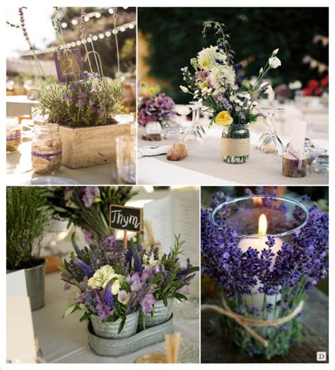deco table mariage fleurs naturelles decoration mariage provence centre de table caisse en bois seau zinc lavande