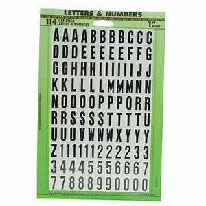 Peel and stick letters numbers 1 pack outdoor living for Peel and stick numbers and letters