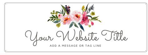 floral watercolor header  script