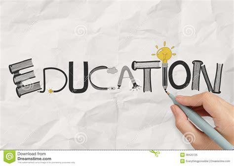 graphic designer education drawing graphic design education word stock illustration
