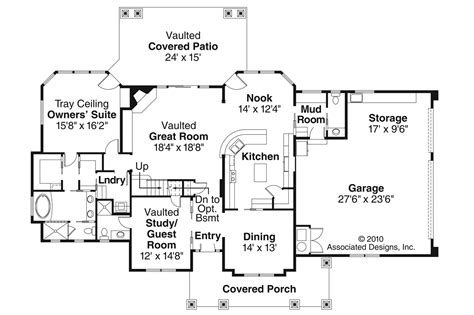 craftsman floor plans craftsman house plans tillamook 30 519 associated designs