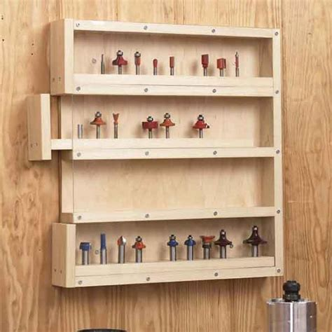 easy access router bit organizer woodworking plan