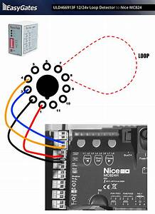 12    24 Volt Loop Detector To Nice Mc824 Control Board
