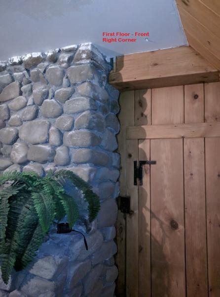 sagging floor beam add support braceledger  masonry