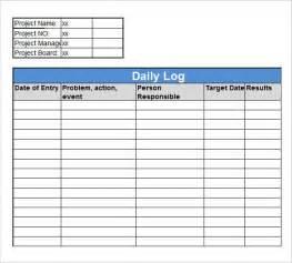 work log template 16 sle daily log templates pdf doc sle templates