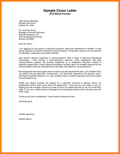 block style business letter  letters