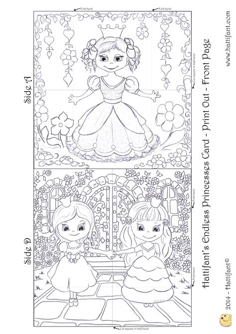 hattifants endless princesses card hattifant