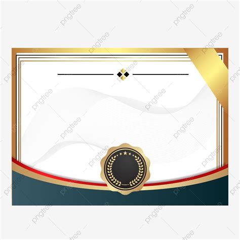 desain sertifikat kosong png