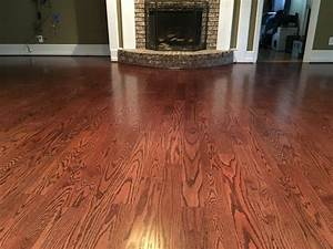 Wood floors 4 inch red oak hardwood red mahogany stain for 4 inch red oak flooring